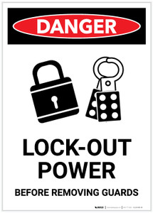Danger: Lock Out for Safety Portrait - Label