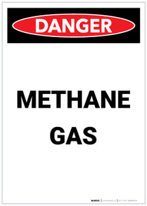 Danger: Methane Gas Portrait - Label