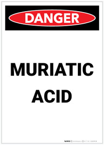 Danger: Muriatic Acid Portrait - Label