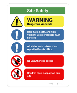 WS26097 - Site Safety Notice - Wall Sign