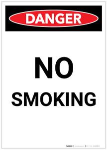 Danger: No Smoking Portrait - Label