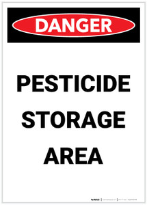 Danger: Pesticide Storage Area Portrait - Label