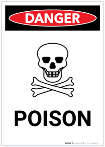 Danger: Poison with Icon Portrait - Label