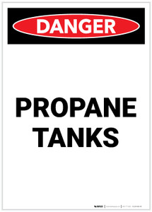 Danger: Propane Tanks Portrait - Label