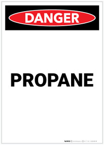 Danger: Propane Portrait - Label