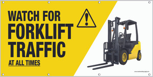 Watch For Forklift Banner