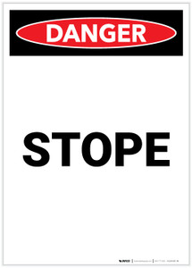 Danger: Stope Portrait - Label
