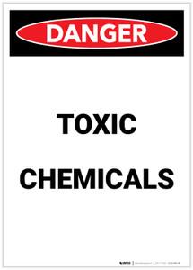 Danger: Toxic Chemicals Portrait - Label