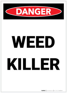 Danger: Weed Killer Portrait - Label