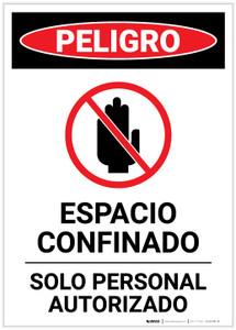 Danger: Confined Space Spanish Portrait - Label