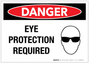 Danger: Eye Protection Required - Label