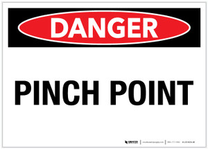 Danger: Pinch Point - Label