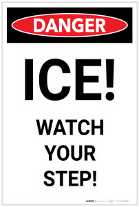 Danger: ICE! Watch Your Step! - Label