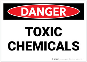 Danger: Toxic Chemicals - Label