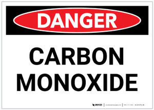 Danger: Carbon Monoxide - Label