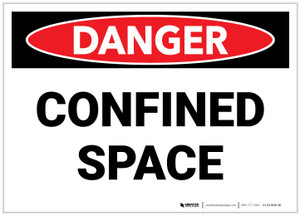 Danger: Confined Space - Label