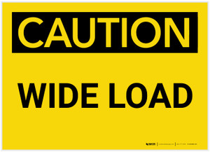 Caution: Wide Load - Label