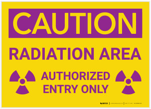 Caution: Radiation Area - Authorized Entry Only - Label