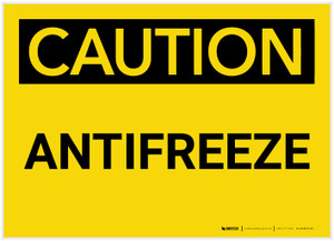 Caution: Antifreeze - Label
