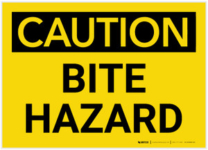 Caution: Bite Hazard - Label