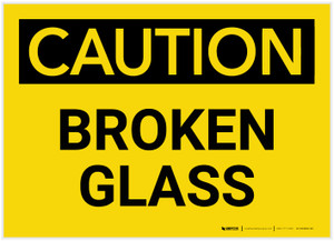 Caution: Broken Glass - Label
