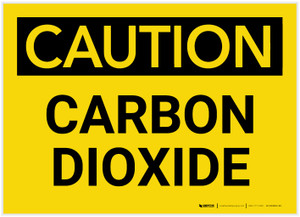Caution: Carbon Dioxide - Label