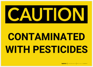 Caution: Contaminated with Pesticides - Label