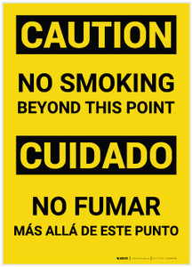 Caution: No Smoking Beyond This Point Bilingual (Spanish) - Label