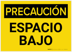 Caution: Low Clearance Spanish - Label