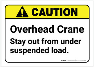 Caution: Overhead Crane ANSI - Label