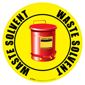 Floor Sign - Solvent Waste