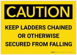 Caution: Keep Ladders Chained - Label