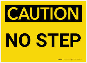 Caution: No Step - Label