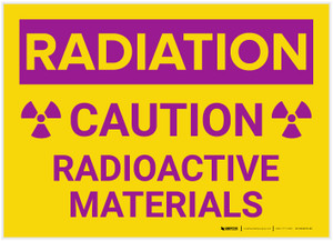 Caution: Radioactive Materials - Label