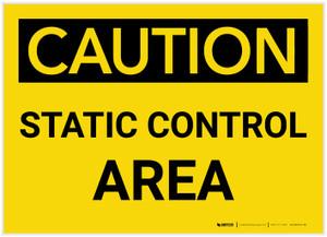 Caution: Static Control Area - Label