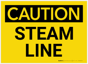 Caution: Steam Line - Label