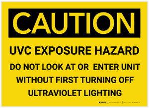 Caution: UVC Exposure Hazard - Label