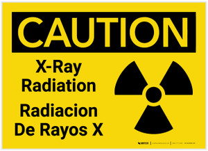 Caution: X-Ray Radiation Bilingual - Label