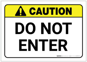 Caution: Do Not Enter ANSI - Label