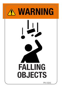 Warning - Falling Objects Label