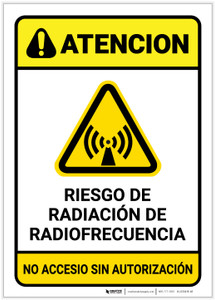 Caution: RF Radiation Hazard Spanish - Label