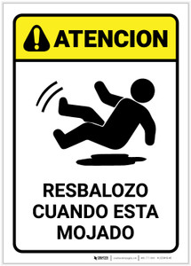 Caution: Slippery When Wet Spanish - Label