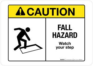 Caution - Fall Hazard - Wall Sign