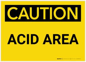 Caution: Acid Area - Label