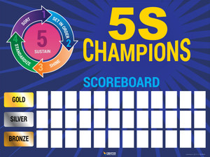 5S Champions Scorecard poster