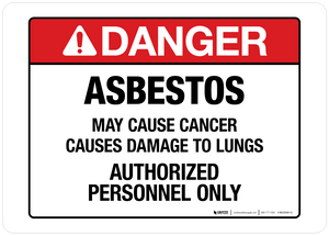Danger - Asbestos - Wall Sign