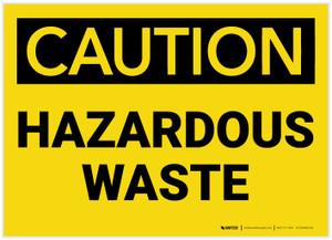 Caution: Hazardous Waste - Label