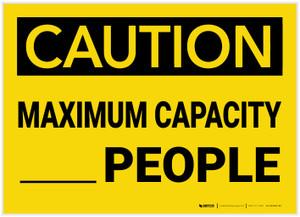 Caution: Maximum Capacity People - Label