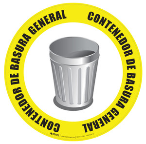 Contendor de Basura General (Genteral Trash Can) Floor Sign