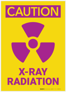 Caution: XRay Radiation - Label